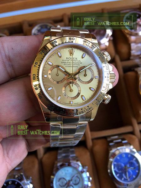 Daytona 116508LN Yellow Gold Dial 1:1 Best Edition  Super Clone ETA - only best watches