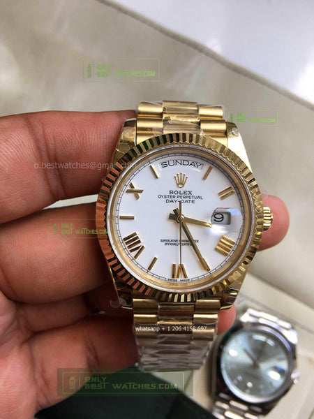 Day-Date White Dial  YG Gold  Best Edition1/1 super clone - only best watches
