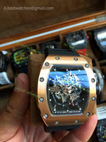 RM035 Amaricas Rose Gold Case Skeleton Dial  Super Clone - only best watches