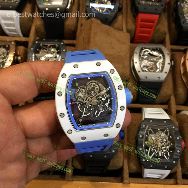 RM 035-01 Ceramic case and bezel  Blue inner Skeleton Dial Best Edition 1/1 - only best watches