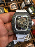 RM 035-01  Carbon Bezel White  inner Skeleton Dial Super Clone - only best watches