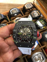RM35-02 1:1 Best Edition Skeleton Dial Rubber Strap Super Clone 1/1 - only best watches