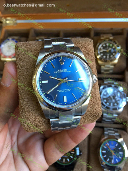 Oyster Perpetual 39Mm 114300 Blue Dial Best Edition Watches