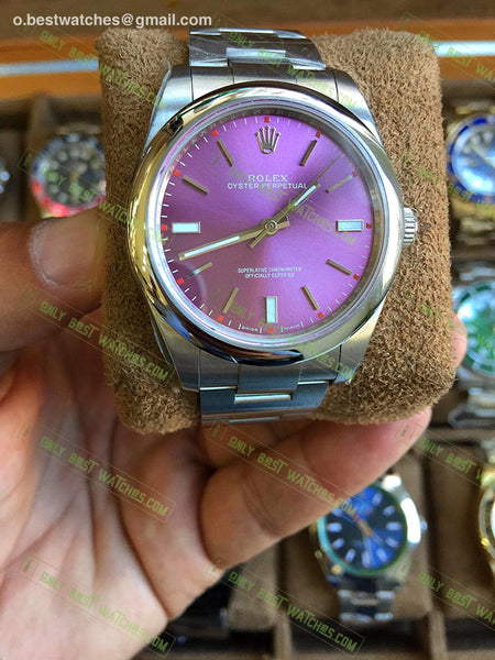 Oyster Perpetual 39Mm 114300 Red Grape Dial Best Edition Watches