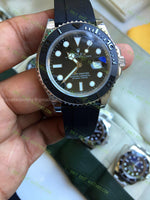 Yacht-Master 116655 3D Black Ceramic Bezel On Rubber Strap Best Edition 1/1 Watches