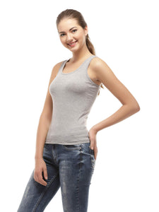 Amrak Women's Tank Top - Plain Grey