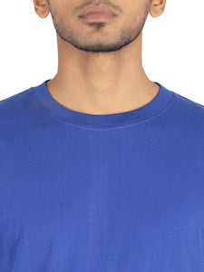 Amrak Men's Round Neck T-Shirt - Plain Royal Blue