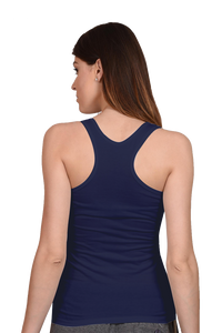 Amrak Women's Tank Top - Plain Navy Blue