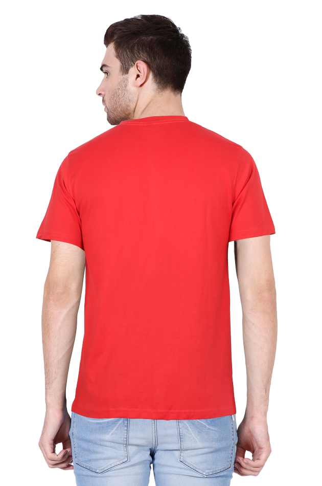 Amrak Men's V-Neck T-Shirt - Plain Red