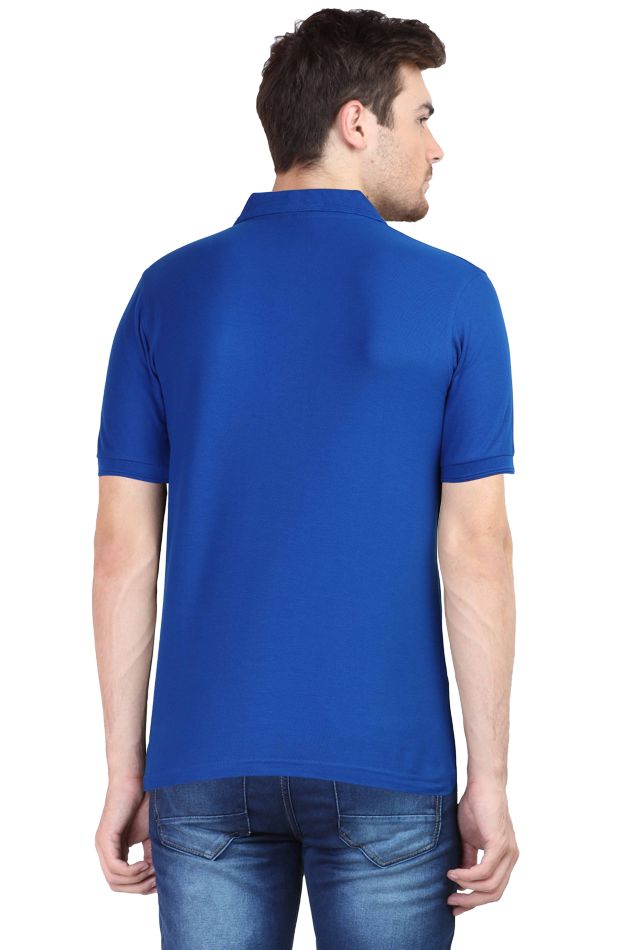 Amrak Men's Polo Collar T-Shirt - Plain Royal Blue