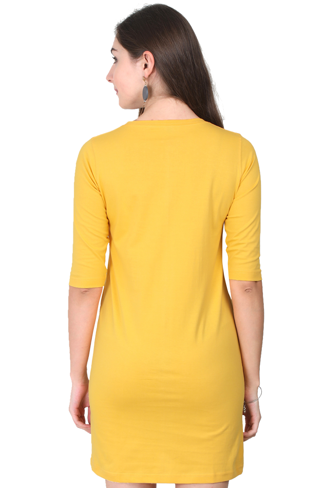 Amrak Women's Long Top - Plain Yellow