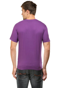 Amrak Men's Round Neck T-Shirt - Plain Purple