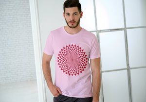 Amrak Men's Printed Round Neck T-Shirt - Vortex Mandala