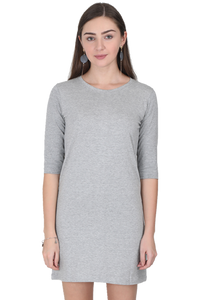 Amrak Women's Long Top - Plain Grey