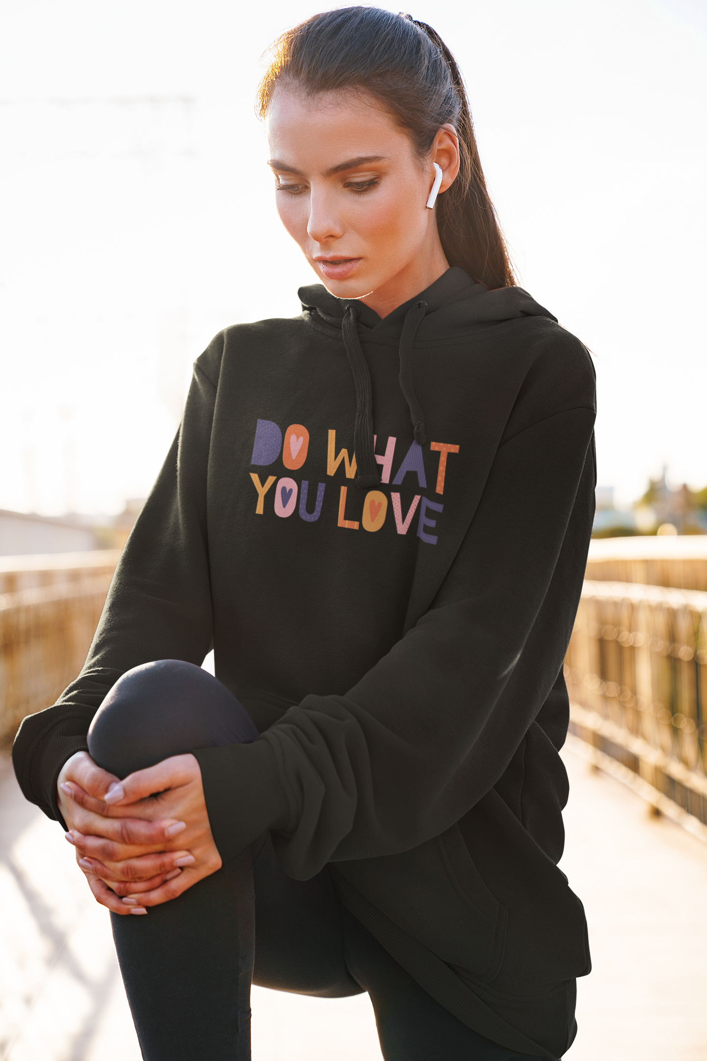 Amrak Women's Printed Hoodie - Do What You Love