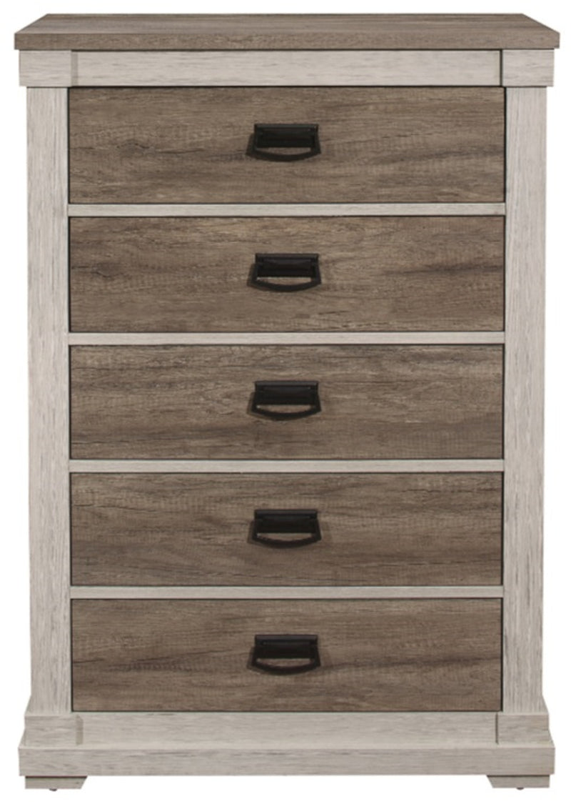 Homelegance Arcadia Chest in White & Weathered Gray 1677-9 image