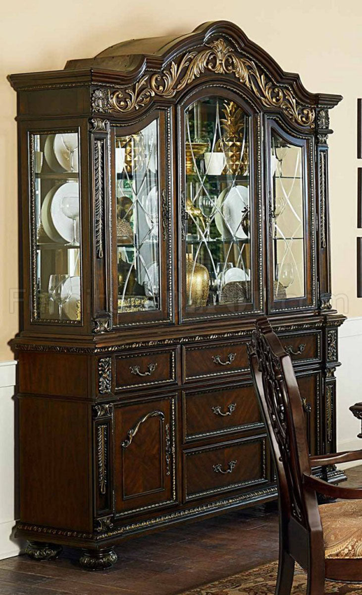 Homelegance Catalonia Buffet with Hutch in Cherry 1824-50-55 image