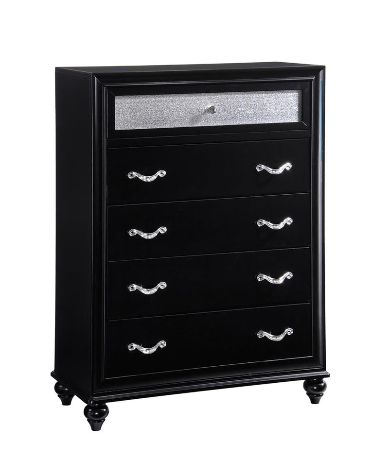 Barzini Five-Drawer Chest With Metallic Drawer Front image