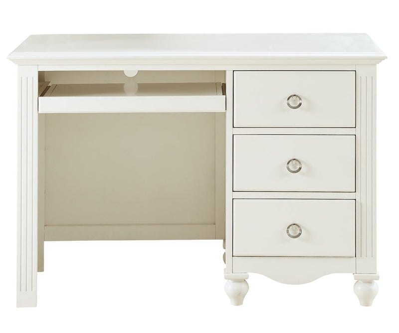 Homelegance Meghan 3 Drawer Writing Desk in White 2058WH-15 image