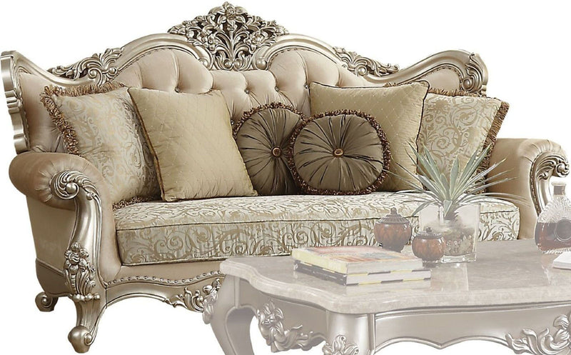 Acme Furniture Bently Sofa with 7 Pillows in Champagne 50660 image