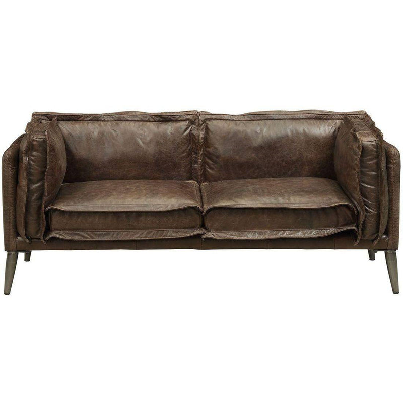 Acme Furniture Porchester Loveseat in Distress Chocolate 52481 image