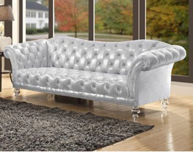 Acme Furniture Dixie Sofa in Metallic Silver 52780 image
