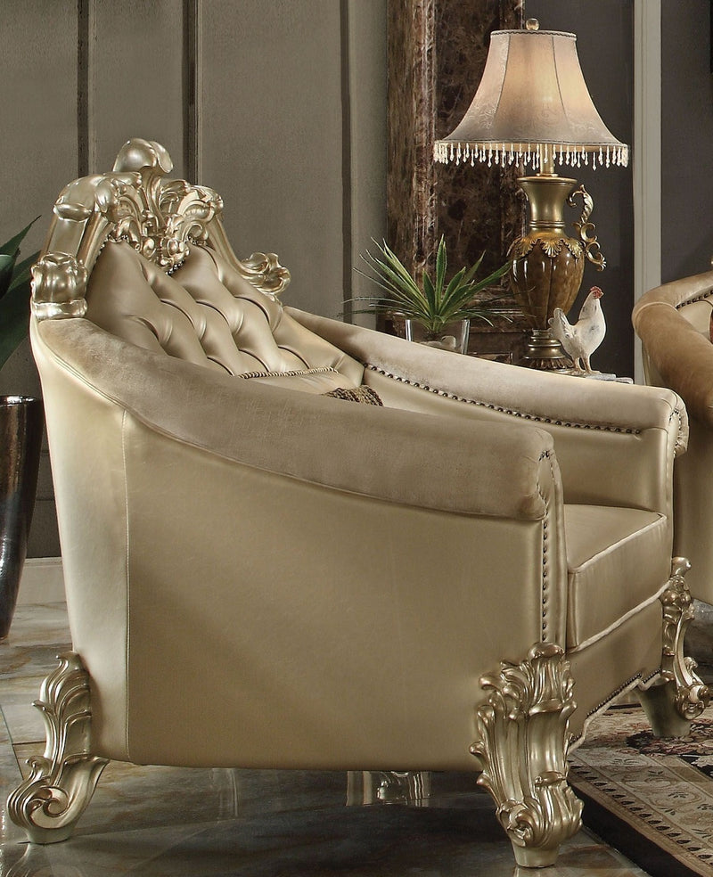 Acme Dresden Living Room Chair in Gold Patina 53122 image