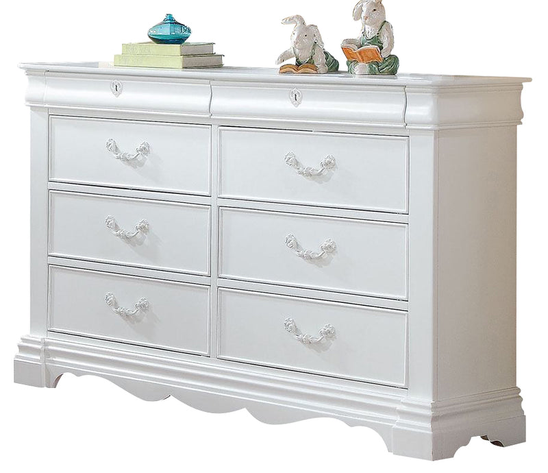 ACME Estrella Youth Dresser in White 30245 image