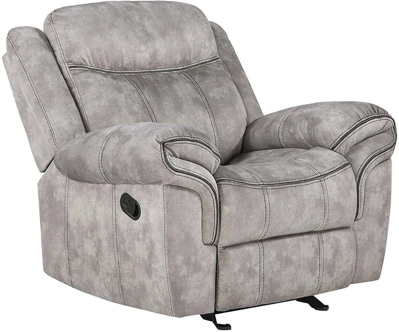 Acme Furniture Zubaida Motion Glider Recliner in 2-Tone Gray Velvet 55027 image