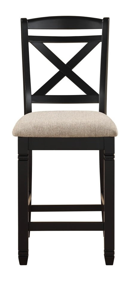 Homelegance Baywater Counter Height Chair in Black (Set of 2) image