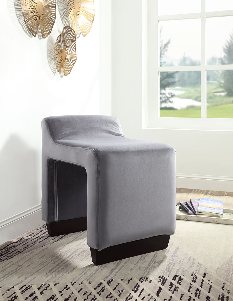 Alford Gray Flannel Ottoman image