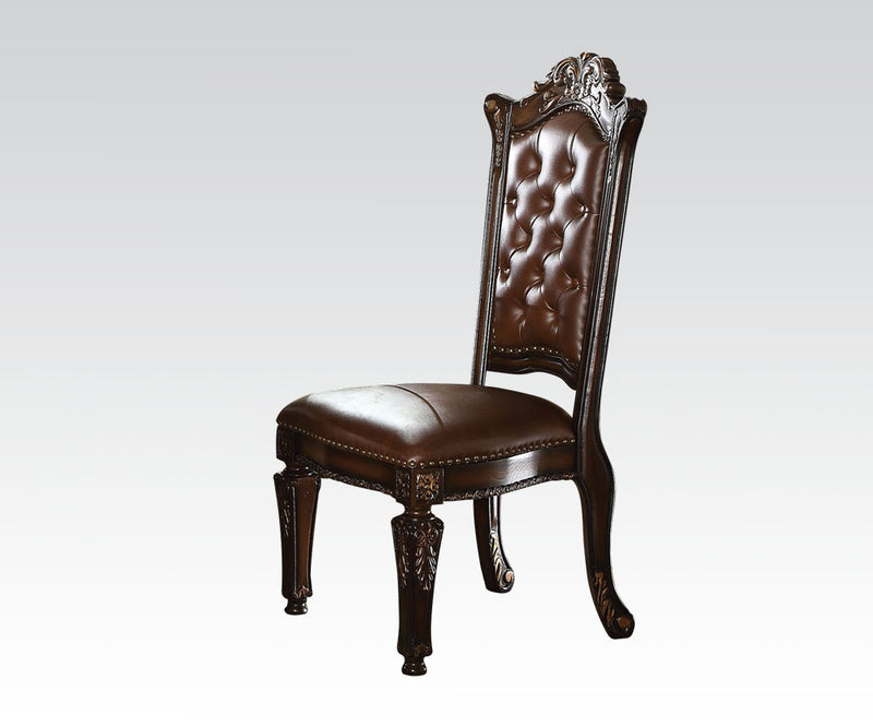 Acme Vendome Dining Side Chair with Leather-Like Uphostery (Set of 2) 62004 image