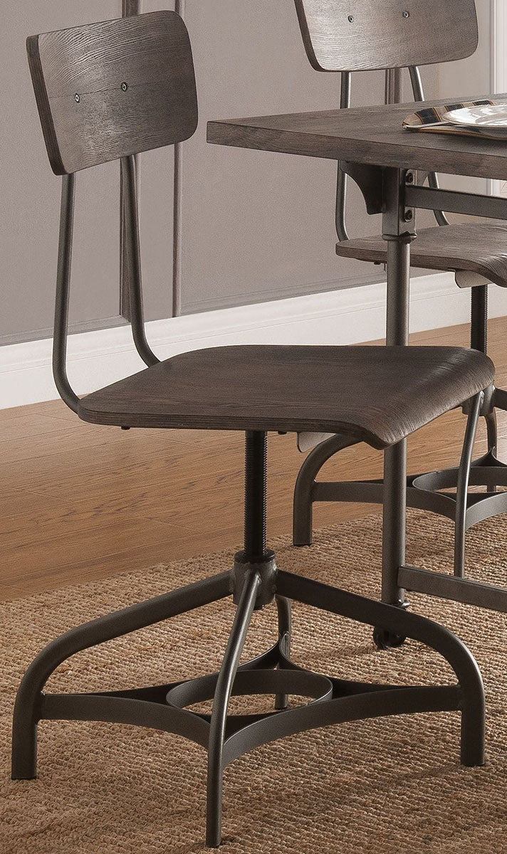 Acme Furniture Jonquil Swivel Side Chair  in Gray Oak and Sandy Gray (Set of 2) 70277 image