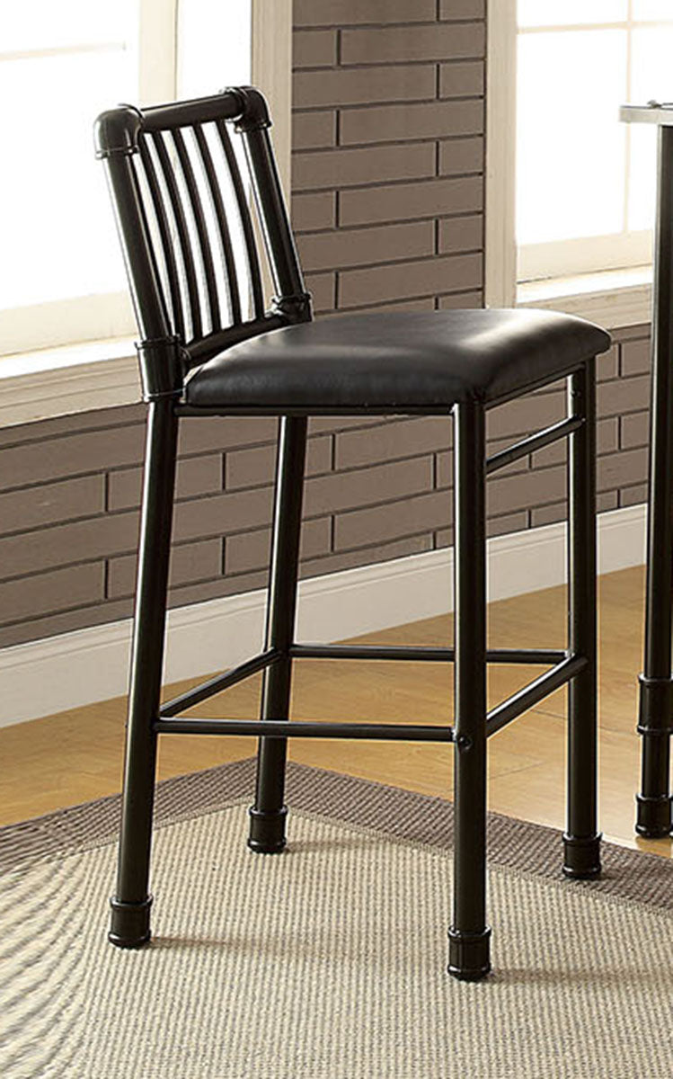 Acme Furniture Caitlin Bar Chair in Black (Set of 2) 72032 image