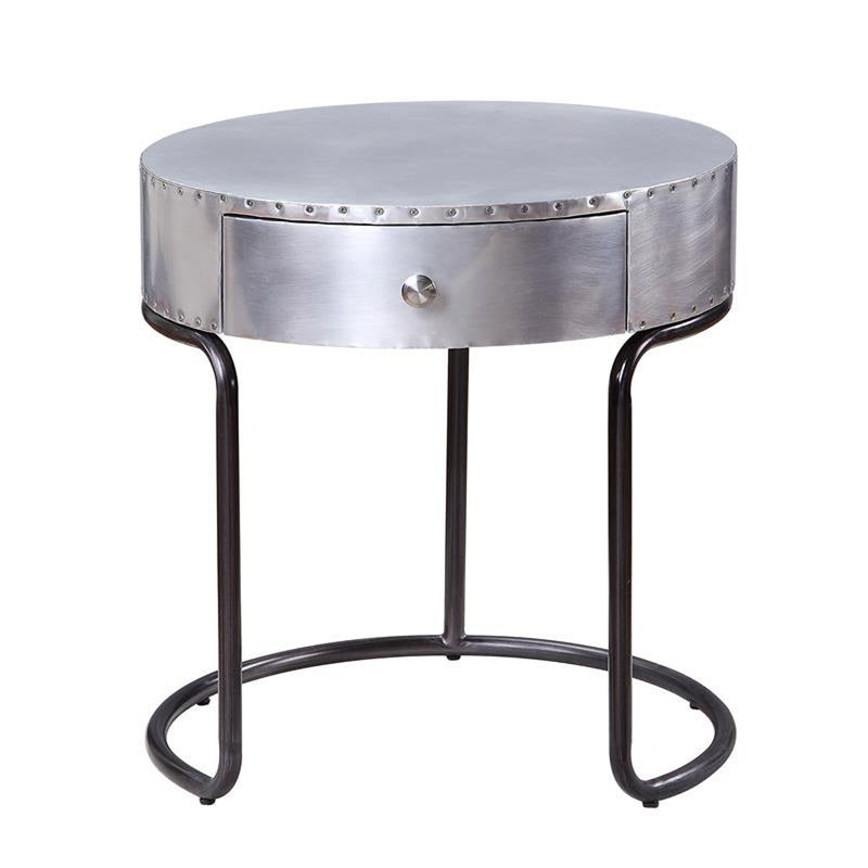 Acme Furniture Brancaster End Table in Aluminum 84882 image