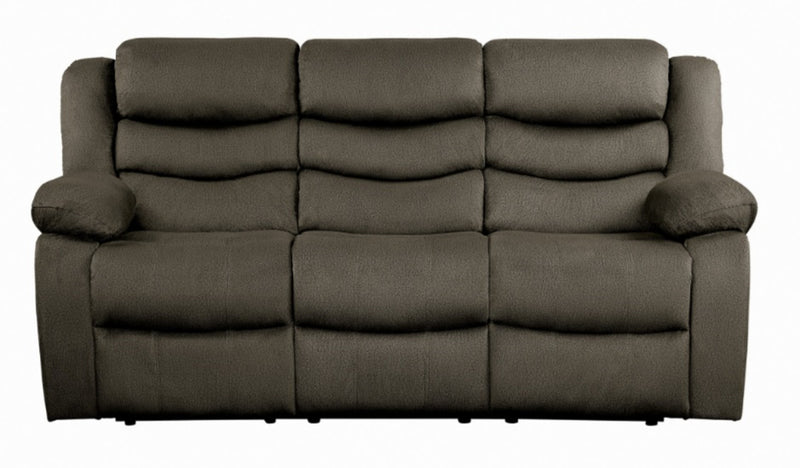 Homelegance Furniture Discus Double Reclining Sofa in Brown 9526BR-3 image