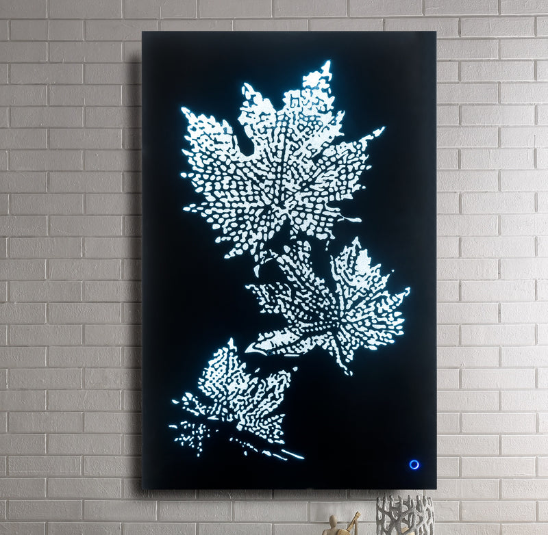Hadrias Smoky Glass & Faux Crystal Wall Art (LED) image