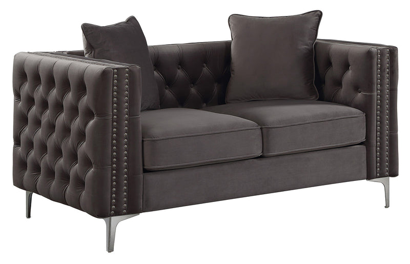 Acme Furniture Gillian II Loveseat in Dark Gray 53388 image