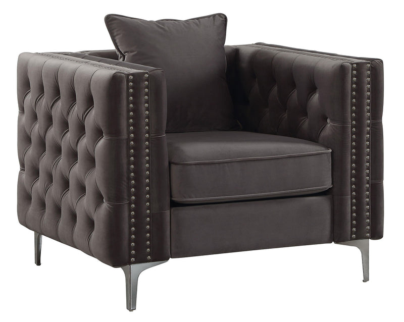Acme Furniture Gillian II Chair in Dark Gray 53389 image