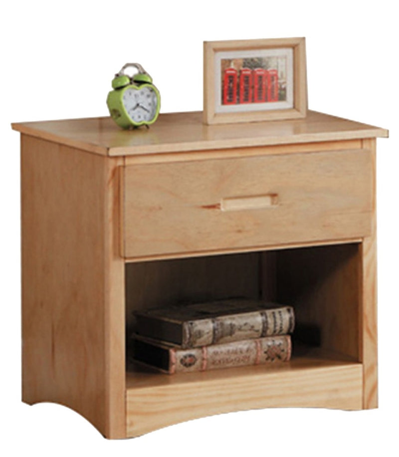 Homelegance Bartly 1 Drawer Night Stand in Natural B2043-4 image