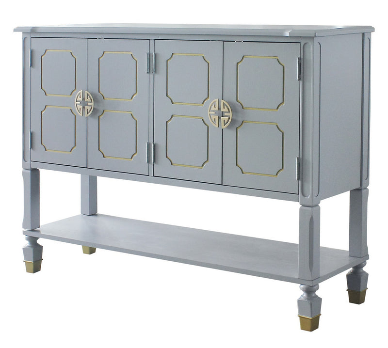 Acme Furniture House Marchese Server in Pearl Gray 68864 image