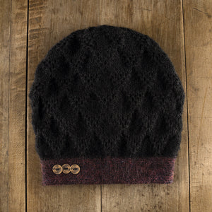 Superscale Duo Hat in wine/onyx