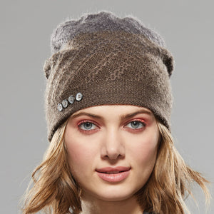 Tri-Zag Toque in sable to pewter