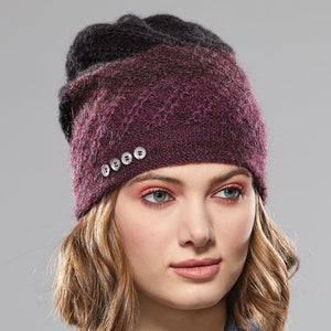 Tri-Zag Toque in cassis to onyx