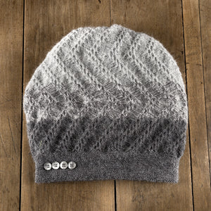 Tri-Zag Toque in slate to cloud