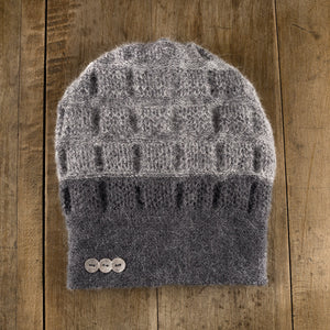 Rosseau Two-Tone Toque in slate to storm