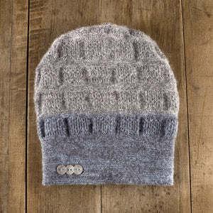 Rosseau Two-Tone Toque in sky storm to storm