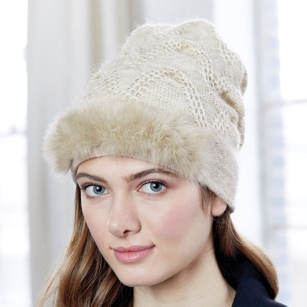 Chevron Fur Hat