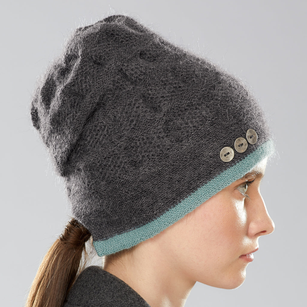 Rosseau Stripe Split Back Hat side