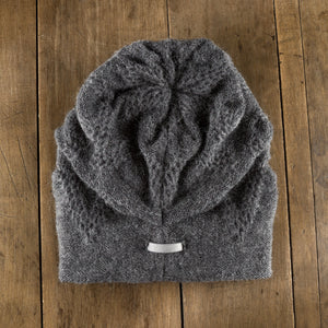 Chevron Tab Toque in slate